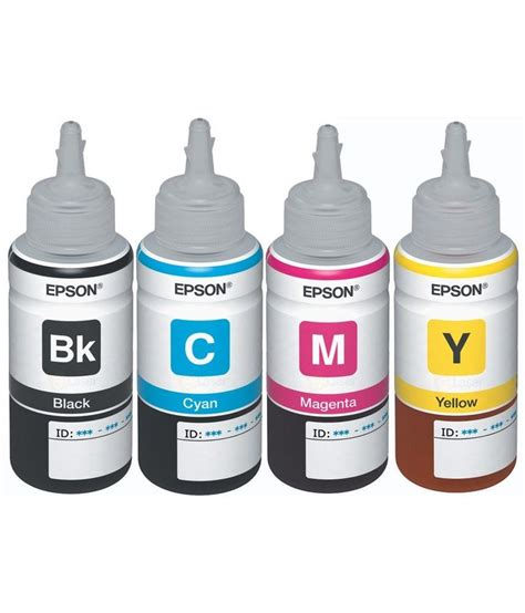 Cartridge Printer Epson L210 original epson ink all colors t6641 b t6642 c t6643 m t6644 y 70 ml each for l100 l110 l200