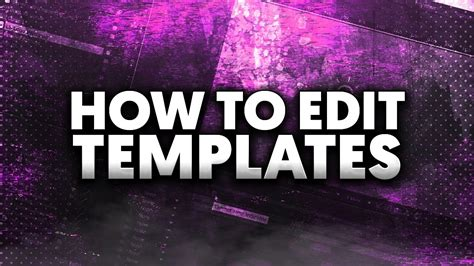 templates for after effects cc how to edit templates in adobe after effects cc youtube