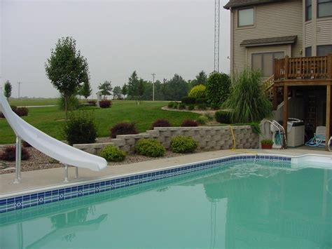 sloped backyard pool 13 best images about future home additions on pinterest fiberglass pools above