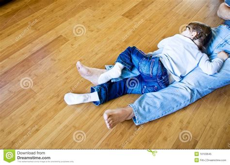 sleeping on hardwood floor ecological bamboo hardwood royalty free stock photo