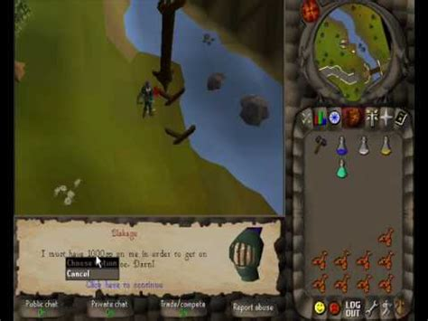 canoes runescape project 05 canoes snippit sle runescape 2005 youtube