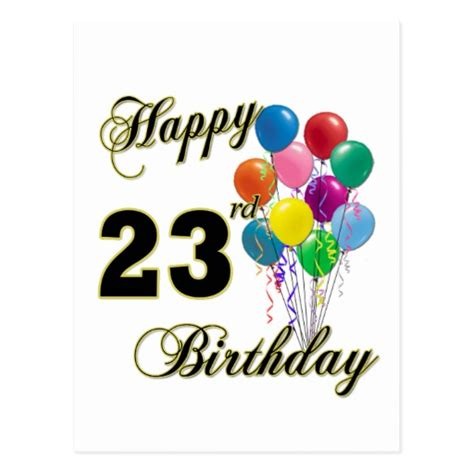 my 23rd birthday gift is the original script of the dark knight rises happy 23rd birthday gifts with balloons zazzle