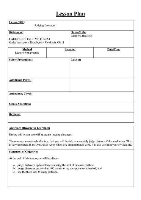 army lesson plan template 16 best images of personal safety worksheets personal