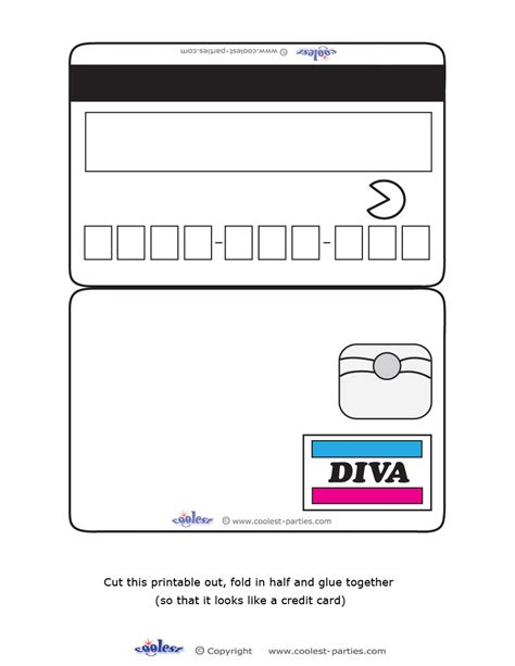 Credit Card Blank Template 9 Best Images Of Free Printable Play Credit Cards Credit