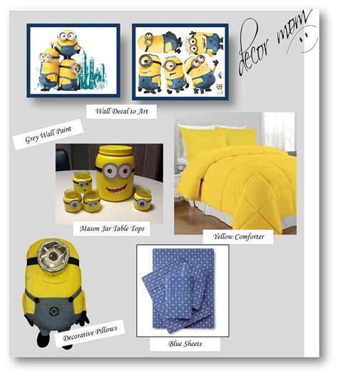 despicable me bedroom accessories minion room decor kids bedroom ideas despicable me