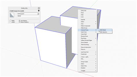 Sketchup Tutorial Intersect | the basics of intersection in sketchup sketchucation