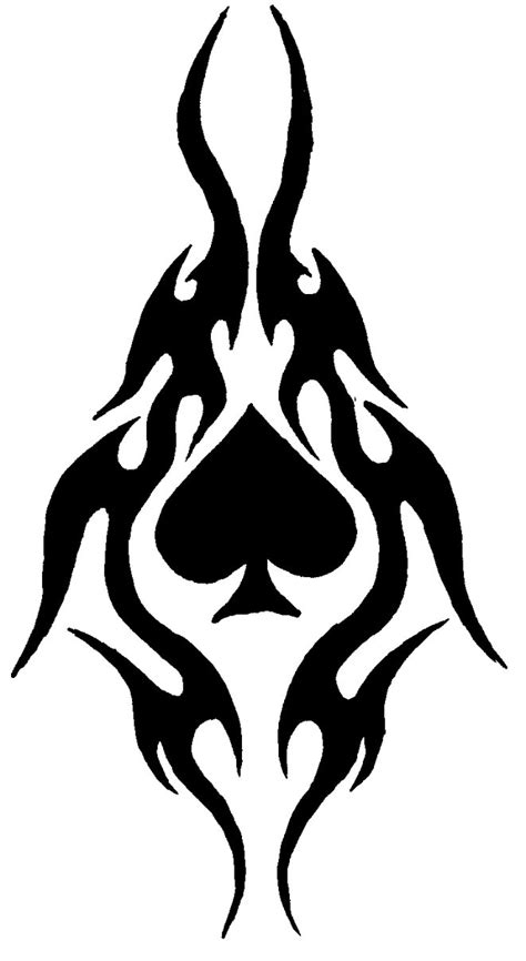 tribal spade tattoos tribal spade by 69ct69 on deviantart