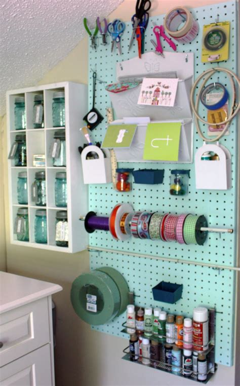 Pegboard Craft Room Simple Ideas To Organize A Craft Room Butterfly House