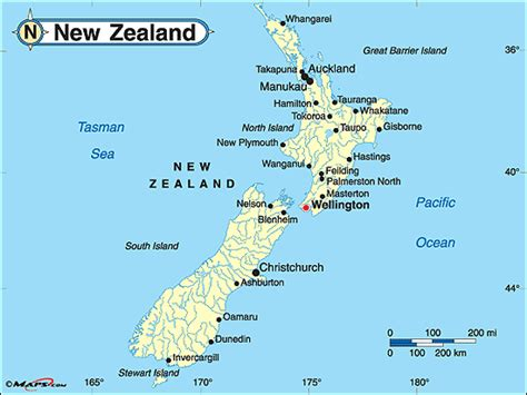 political map of new zealand physical and political map of new zealand images