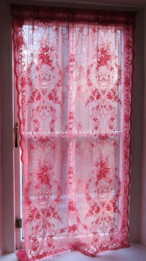 pink lace curtains pink lace curtains home decor pinterest
