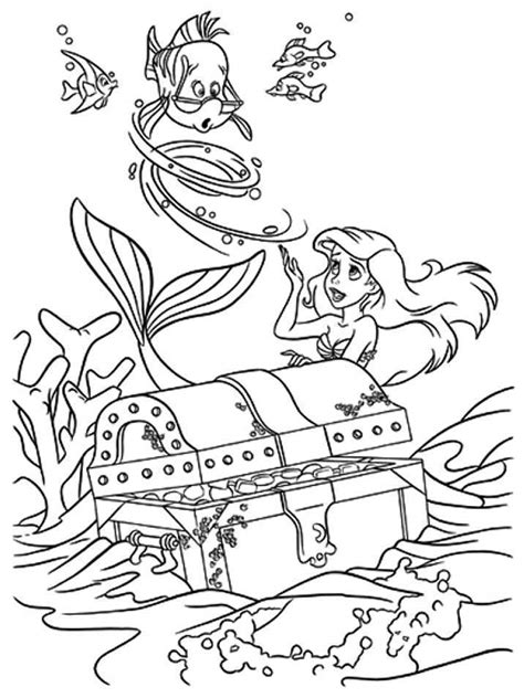 The Little Mermaid With Flounder Coloring Pages Az Flounder Coloring Pages From The Mermaid