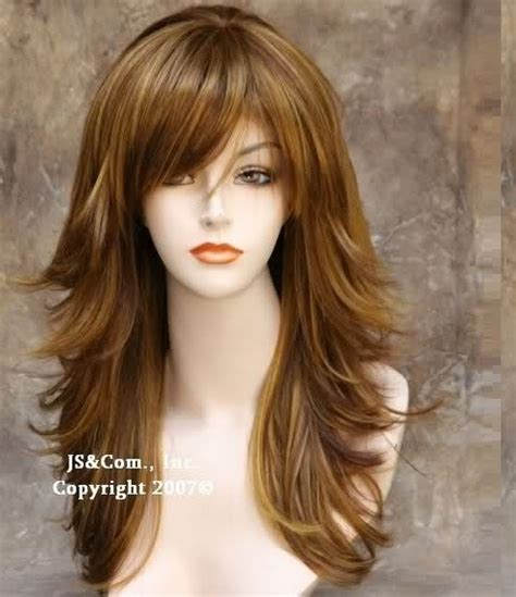 pakistani hairstyle layer cutting long hair short layers thick sweep over bangs perfect