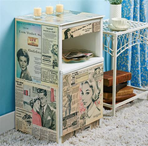 Decoupage Bedside Table - homemaker magazine forum baking free downloads