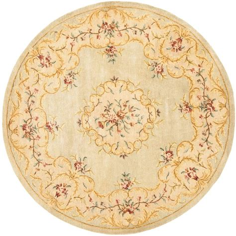 Safavieh Bergama Light Green Beige 8 Ft X 8 Ft Round Rugs 8 Ft