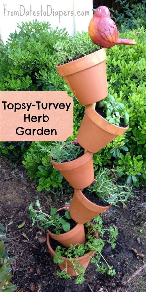 topsy diy diy topsy turvy herb garden diy projects image