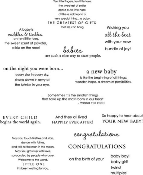 New Baby Verses For Handmade Cards - quotes for baby cards quotesgram