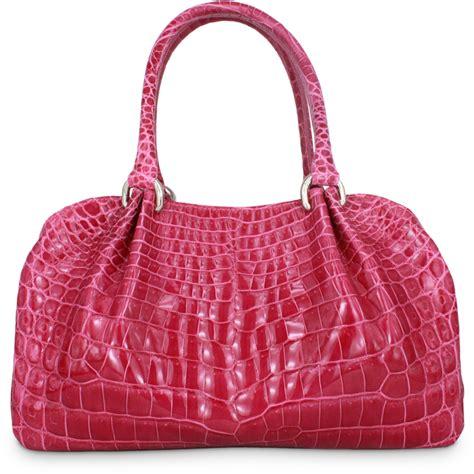 Handmade Purses Bags - bags and handbags crocodile handbag c pink