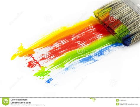 paint colorful paint brush colorful stock photos image 21962033