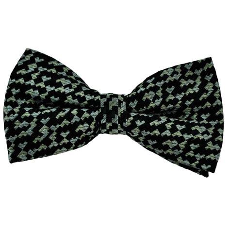 black pattern bow tie black silver pattern silk bow tie from ties planet uk