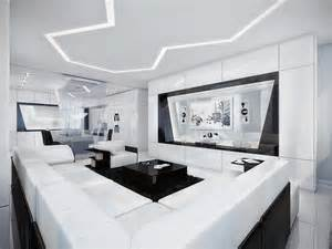 Black And White Apartment Futuristic Black And White Apartment