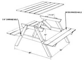 build a picnic table from five easy pieces diy mother earth news