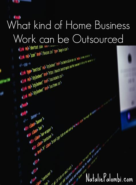 what of home business work can be outsourced