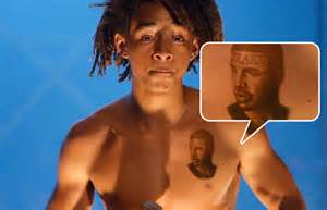 jaden smith gets tattoo of drake on his chest