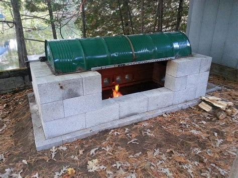 backyard pit bbq cinder block fire pit inexpensive and attractive ideas
