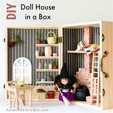 simple doll house make a dollhouse in a box simple portable and fun