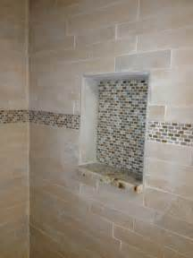 shower shelf custom tile work bathroom remodel