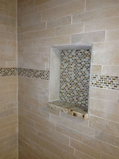Tile Shower Shelf Ideas by 145 Best Images About Tile Designs Bathrooms On