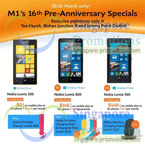 Hp Nokia Lumia 920 Dan 820 handphone shop nokia lumia 520 820 920 exclusive premiums at selected outlets 187 m1 smartphones
