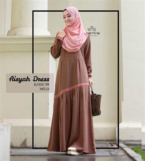 Dress Batik Wanita E 09 gamis aisyah dress 09 baju gamis wanita busana muslim