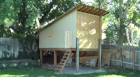 tour of elevated playhouse treehouse i built in the