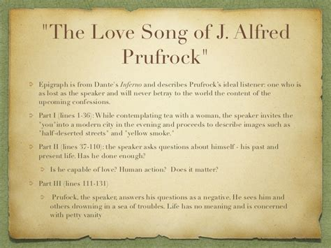 the lovesong of j alfred prufrock themes quot the love song of j alfred prufrock quot epigraph is from