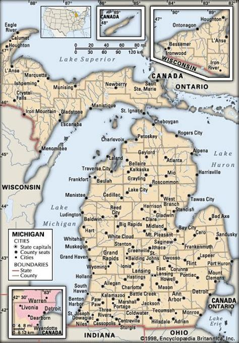 maps of michigan cities michigan history geography state united states