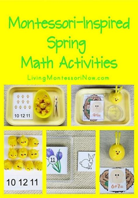 spring themed work events free spring printables and montessori inspired spring math
