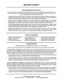 human resources executive resume airline industry