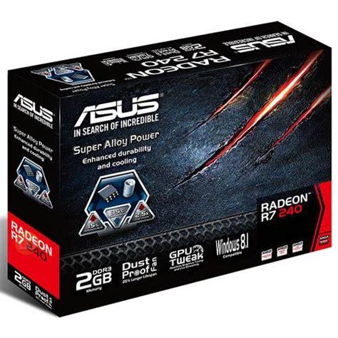 Vga Card 2gb 128 Bit asus card amd r7 240 2gb gddr3 128 bit vga dvi r7240 2gd3 l lucomputer sku 26632