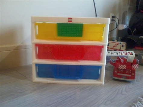 original lego 3 drawer sorting and storage unit west