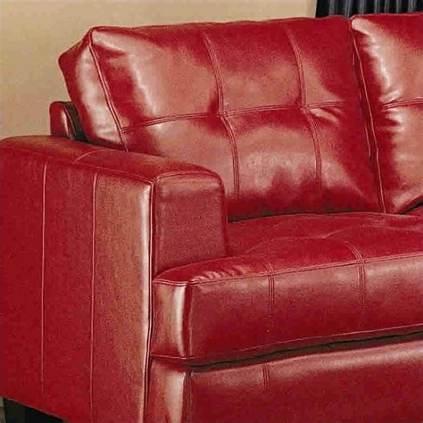 Modern Tufted Leather Sofa Coaster Samuel Modern Tufted Leather Sofa In 501831