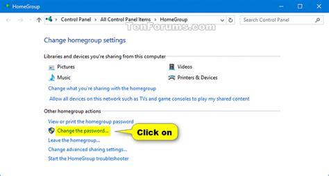windows 10 homegroup tutorial homegroup password change in windows 10 windows 10