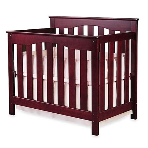 Ethan Mini Crib Nursery Smart 174 Ethan Convertible Mini Crib Conversion Rails Cherry Buybuy Baby