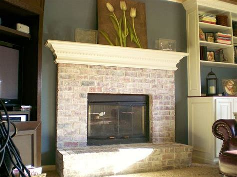 whitewash brick fireplace accent walls fireplaces and whitewashed brick