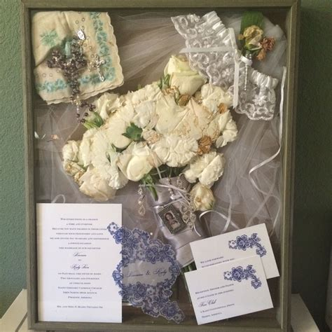 Wedding Veil Box by My Wedding Shadow Box Veil Grandmother Hankie