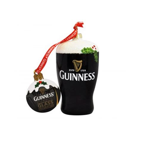 guinness glass pint decoration christmas gifts
