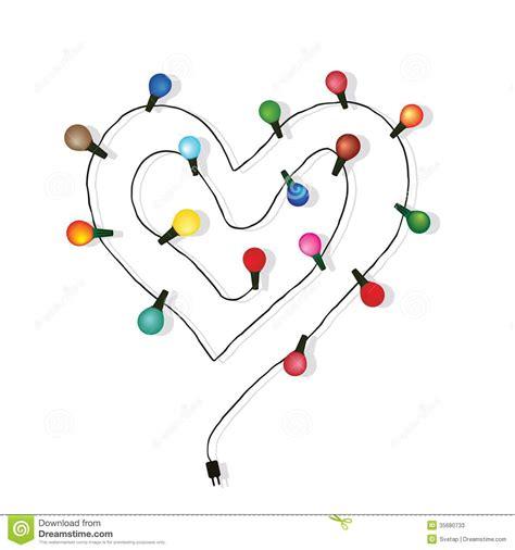 heart love light bulb vector stock image image 35680733
