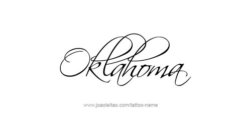ou tattoo designs oklahoma usa state name designs page 2 of 5