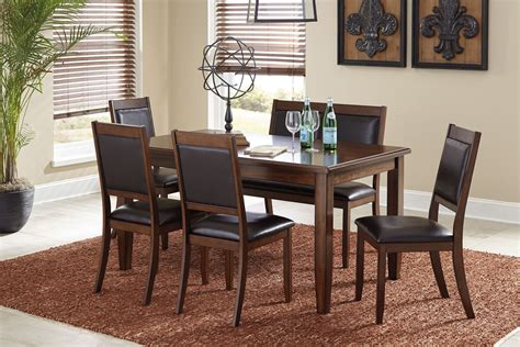 brown dining room set meredy brown 6 dining room set d395 325