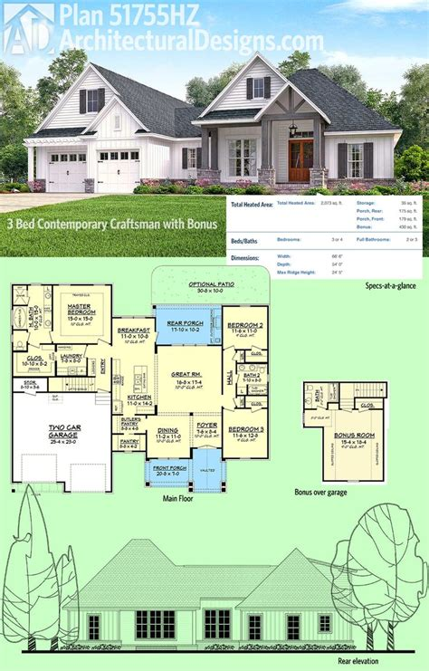 house above garage plans rambler house plans with bonus room numberedtype